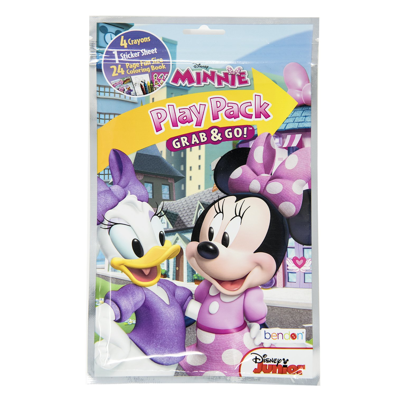 Reward Sticker Activity Book and Zipper Travel Bag Bendon Grab and Go Play Packs DISNEYs Mickey and Minnie Coloring and Activity Book Set with Carry Along Coloring Activity Traveler