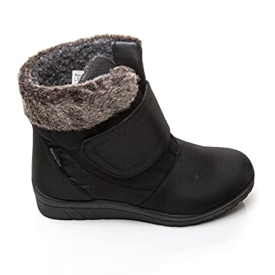 91fcb1d33a293 Cushion Walk Thermo-Tex Womens Comfort Fit Winter Boots - CW81 Black