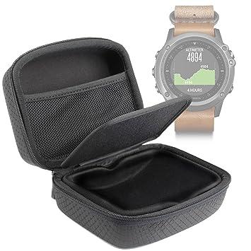 DURAGADGET Carcasa para Smartwatch Garmin Fénix 3 HR/Leather/Nylon/Titanium - Separador Protector Y Bolsillo De Rejilla Interno