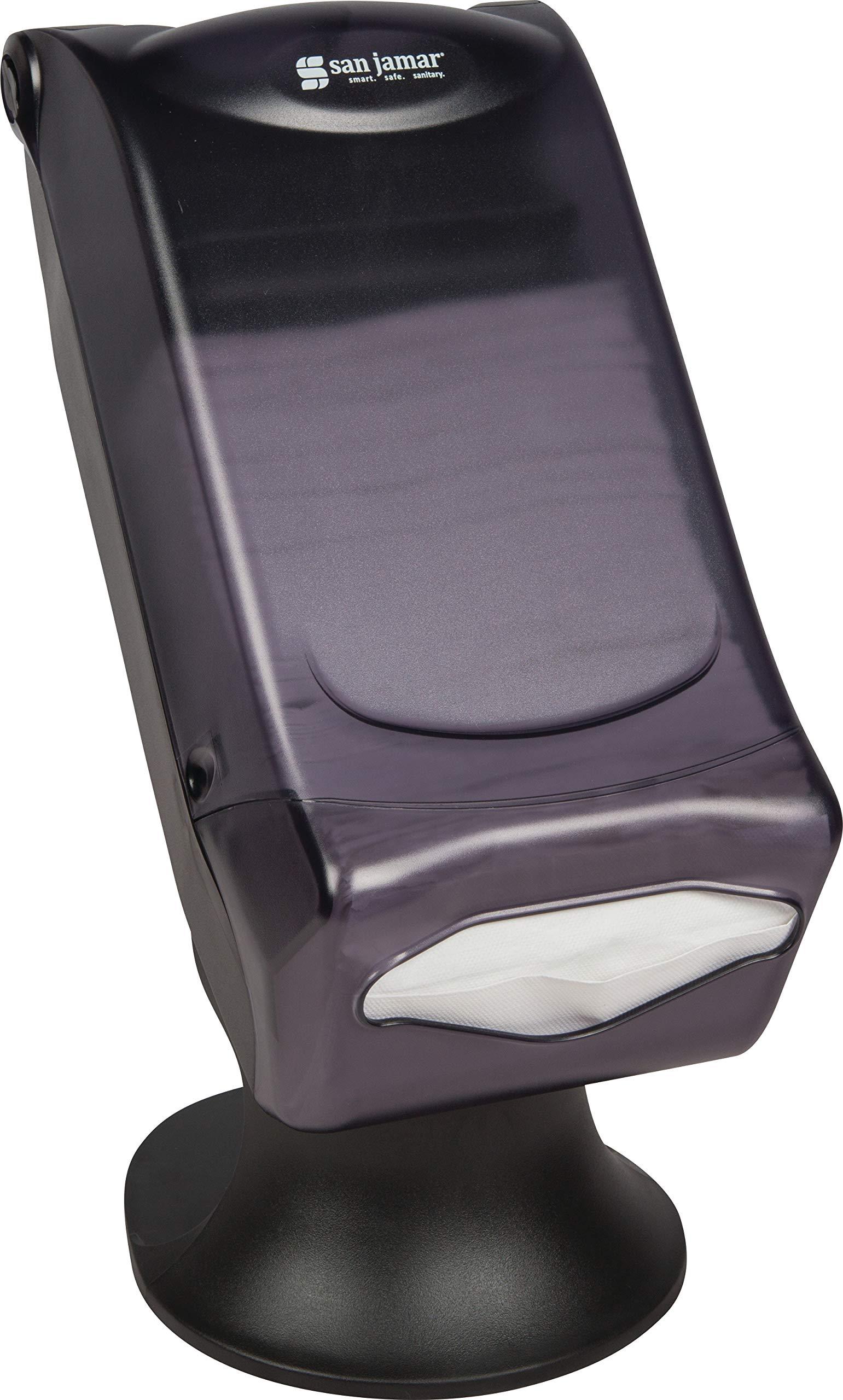 San Jamar H5005S Venue Fullfold Control Napkin Dispenser with Stand, 500 Capacity, 8'' Width x 17-1/2'' Height x 13'' Depth, Black Pearl by San Jamar (Image #6)