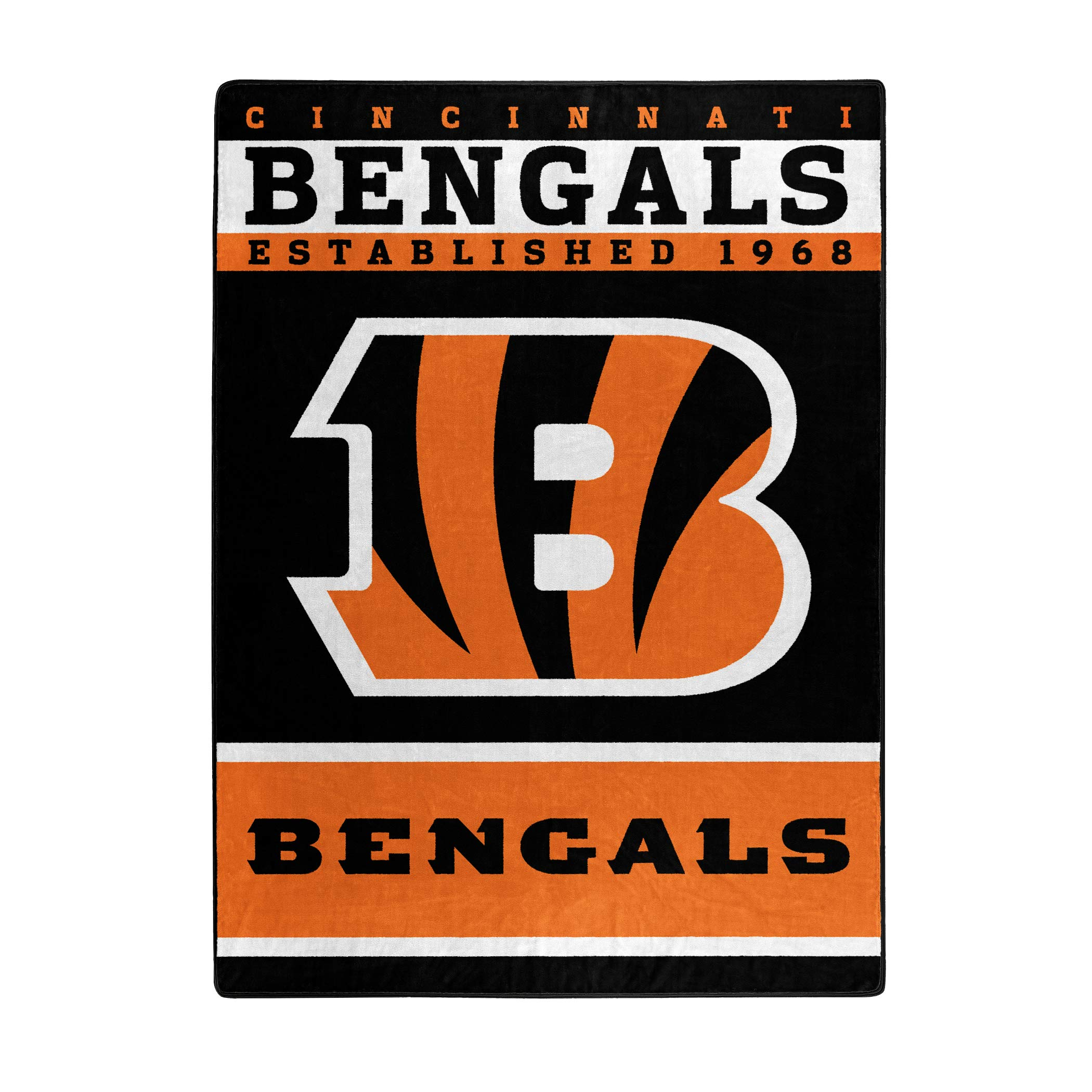 The Northwest Company Officially Licensed NFL Cincinnati Bengals 12th Man Plush Raschel Throw Blanket, 60'' x 80''