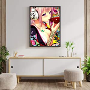 """Super Sonico The Animation Poster Japanese Video Game Super Sonico Manga Unframed Poster Art Canvas Printing Wall Decor Size - 11""""x17"""" 18""""x24"""" 24""""x32"""" 24""""x36"""" (M - 18""""x24"""" (46x61cm))"""