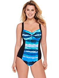 Christina Womens D-Cup Tank One Piece with Twist Front Swimsuit One Piece Swimsuit