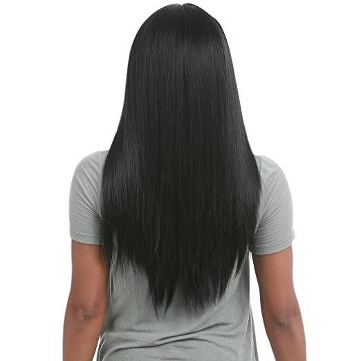 Amazon.com : SENSATIONNEL 100% PREMIUM FIBER CLOUD9 4-WAY MULTI PARTING SWISS LACE WIG - VIXEN YAKI 24 (1) : Beauty