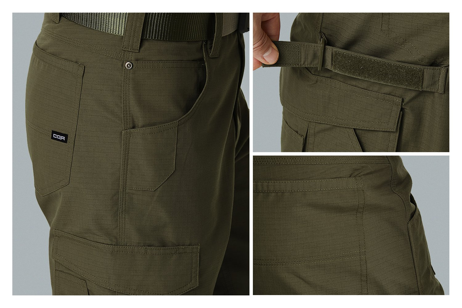 CQR CQ-TWP302-BLK_38W/34L Men's Operator Rip-Stop Tactical Work Utility Pants EDC TWP302 by CQR (Image #9)
