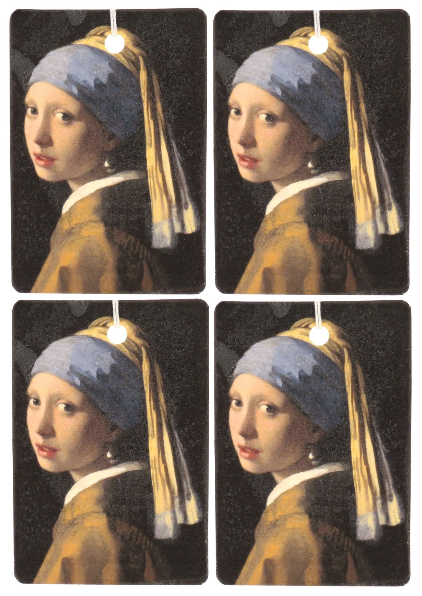 Set of Four Girl With The Pearl Earring Air Fresheners, Sweetgrass