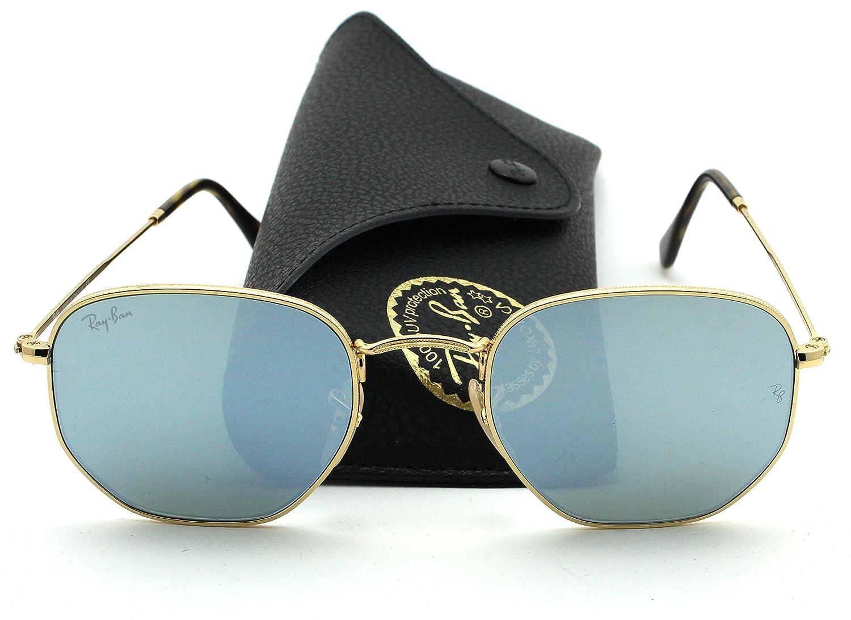 e7de9483db4 Ray-Ban RB3548N HEXAGONAL FLAT LENSES Sunglasses Silver Flash Lens ...