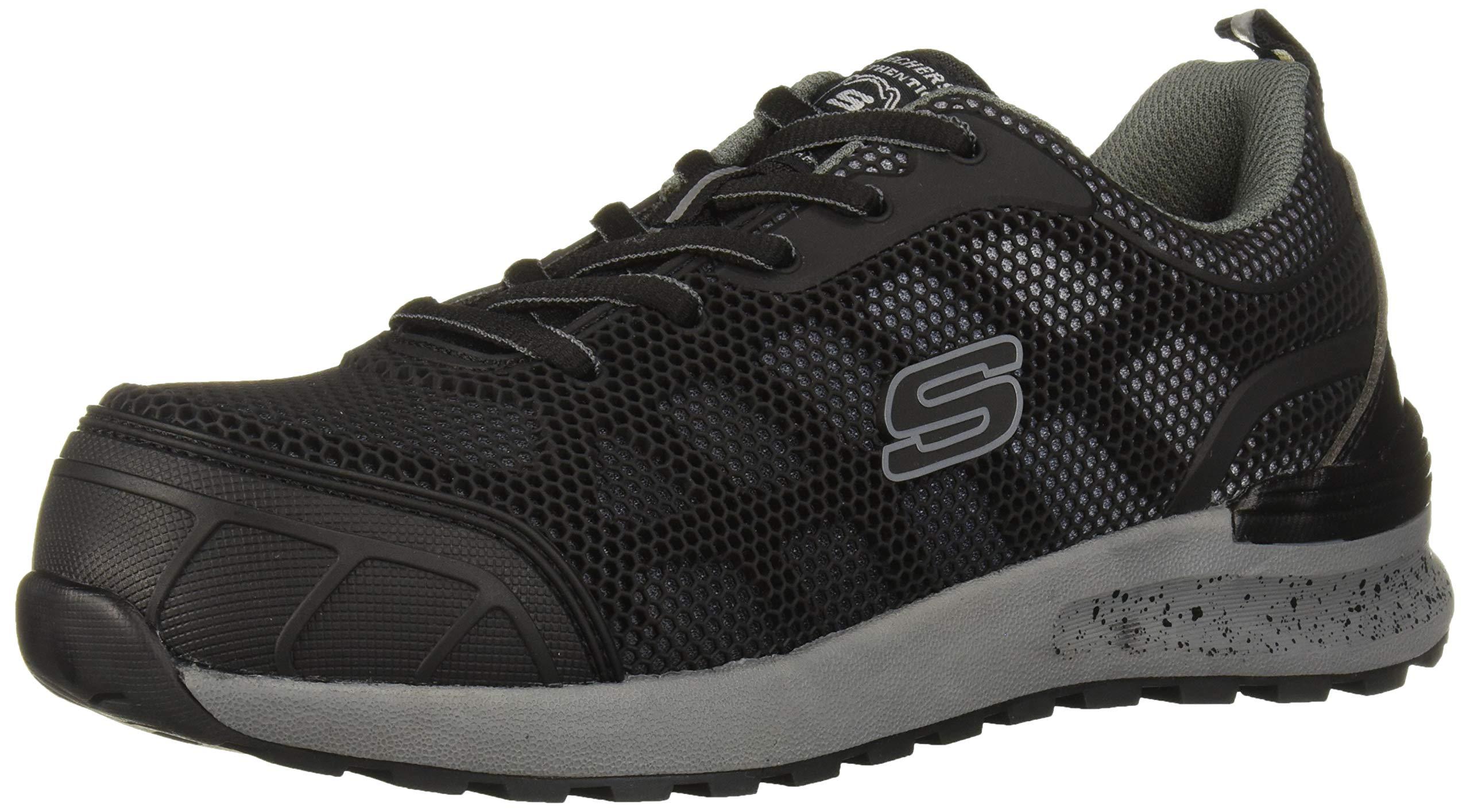 Skechers Women's Bulklin-Lyndale Industrial Shoe, Black/Gray, 8.5 M US by Skechers