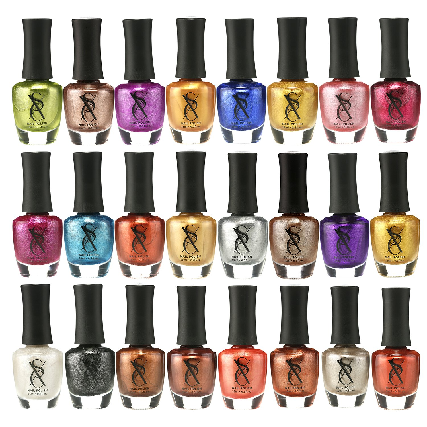 Amazon.com: SXC Cosmetics Nail Polish Set, 24 Neon Pastel