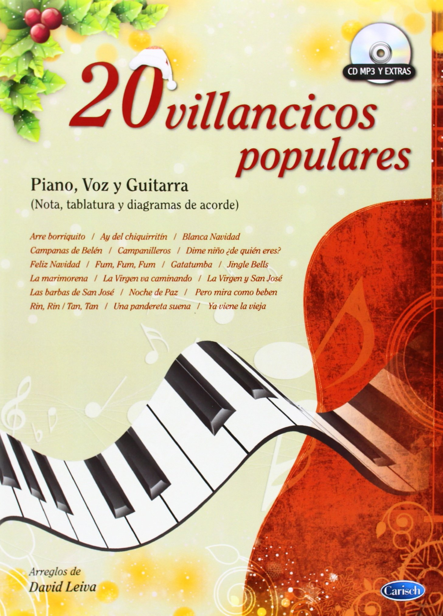 20 Villancicos Populares: Amazon.es: David Leiva Prados, Voice, Guitar Piano: Libros