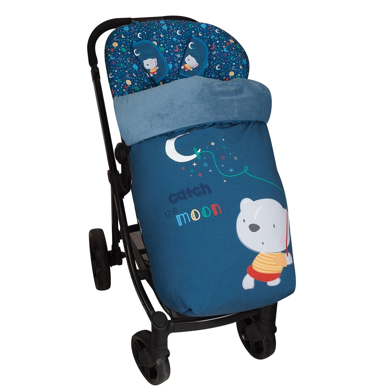 Saco de Bebé Universal Silla Polar COMPLETO + Cubre Arnés de regalo, desmontable, tejido trasero 3D Babyline