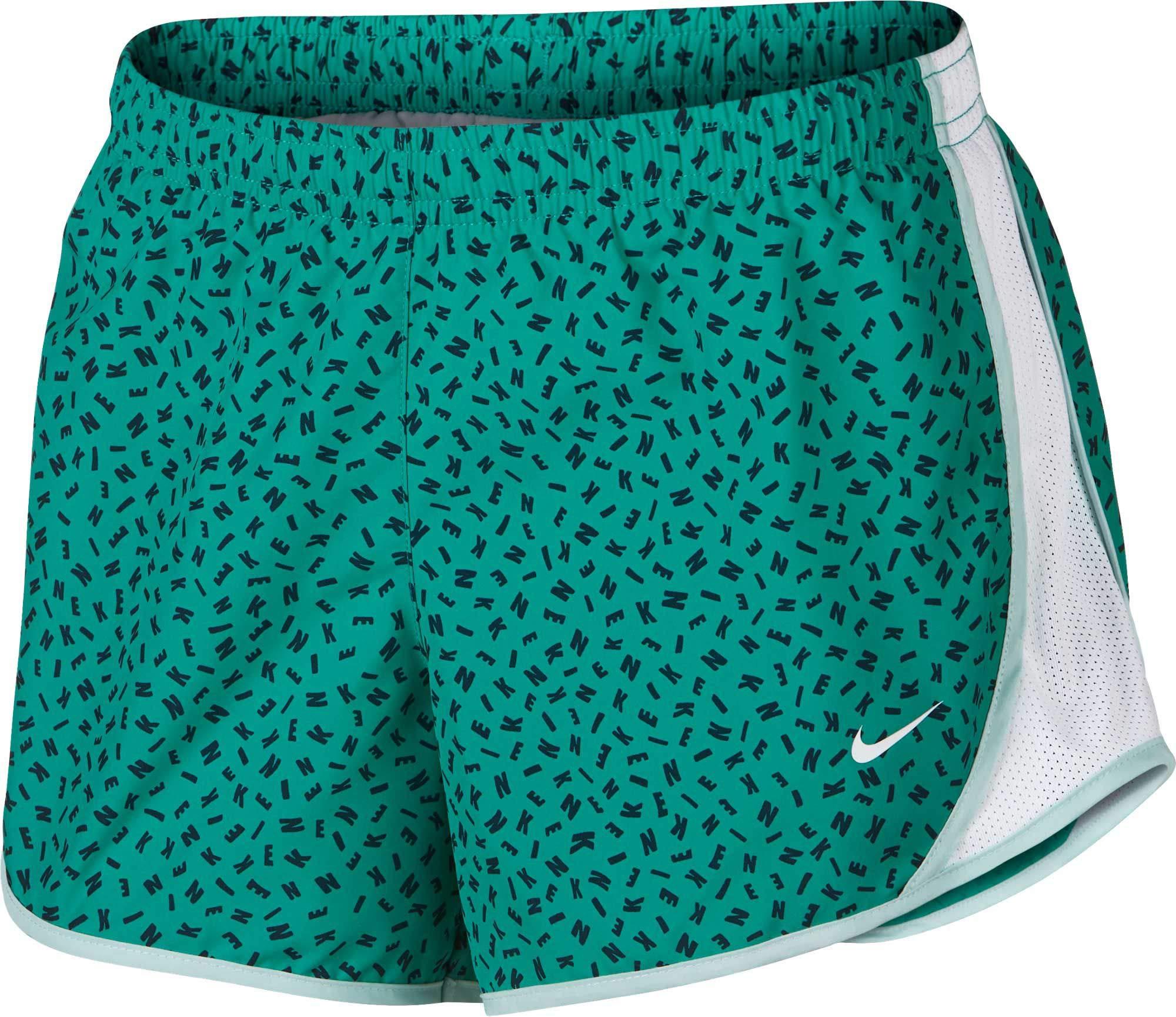 Nike Girl's Dry Tempo Printed Running Shorts (Jungle, Medium) by Nike