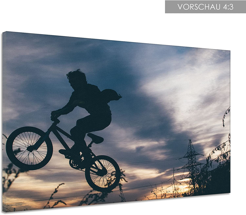 Silueta bicicleta Salto Cielo nubes Trick Lienzo Póster Impresión ...