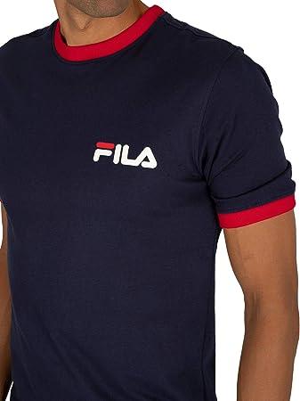 Fila de los Hombres Camiseta Rosco, Azul