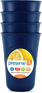 product image for Preserve Everyday 16 Ounce Cups, Set of 4, Blue
