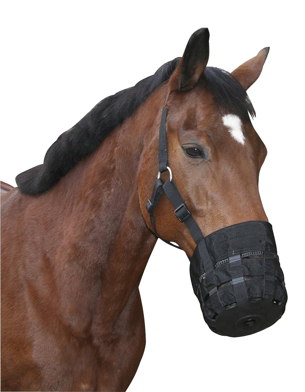 Kerbl Cheval Muselière en Nylon pour Cheval de Selle Noir 210305