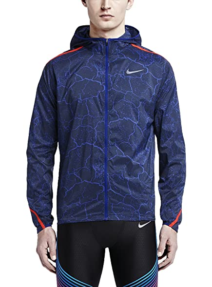 Mens Nike Impossibly Light Deep Royal Blue/Bright Crimson Jacket