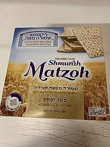 Lakewood Matzoh Machine Made Shmura Matzo, 1 lb Box | Kosher for Passover and All Year Round