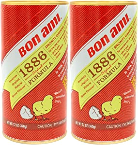 Bon Ami 1886 Formula - 12 oz (Pack of 2)