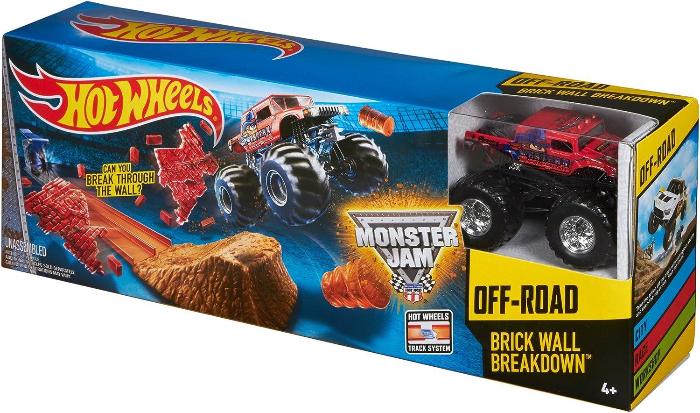 Amazon Com Hot Wheels Monster Jam Brick Wall Breakdown Toys Games