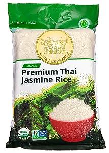 Four Elephants Premium Organic Thai Jasmine Rice Non-GMO Verified 20 lbs