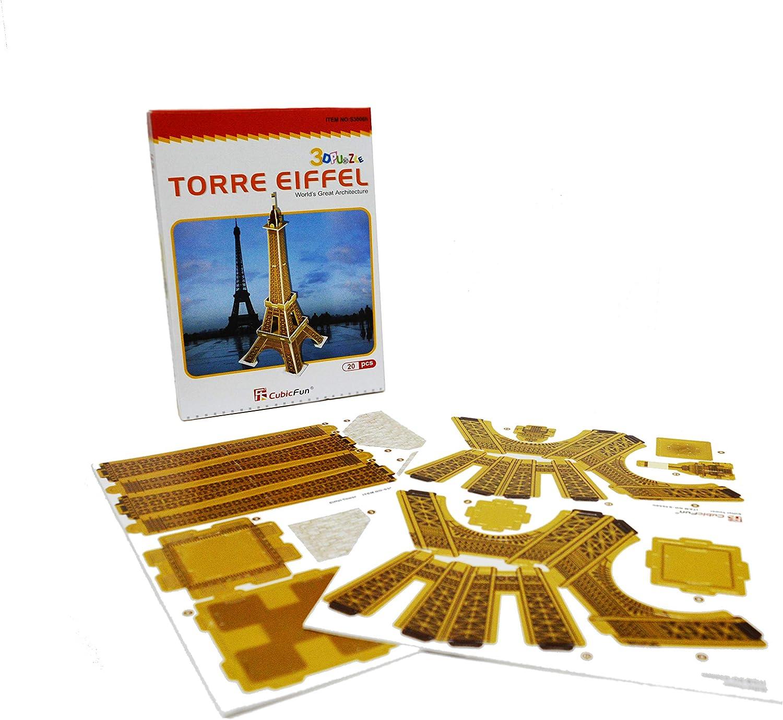 Puzzle 3D para Niños Maqueta Torre Eiffel puzzle 3d torre ...