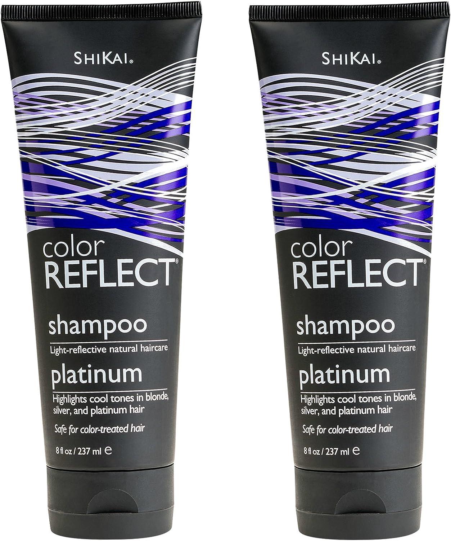 Shikai Color Reflect Platinum Shampoo 8 Ounces (Pack of 2)
