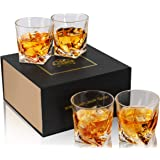 KANARS Crystal Whiskey Rocks Glasses with Luxury Gift Box, Old Fashioned Cocktail Tumbler For Bourbon, Scotch Or Whisky…