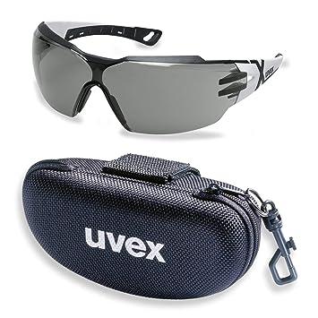 e5228cda545fc3 UVEX 9198237 Pheos Lunettes de protection anti-UV avec étui à lunettes et  lunettes de