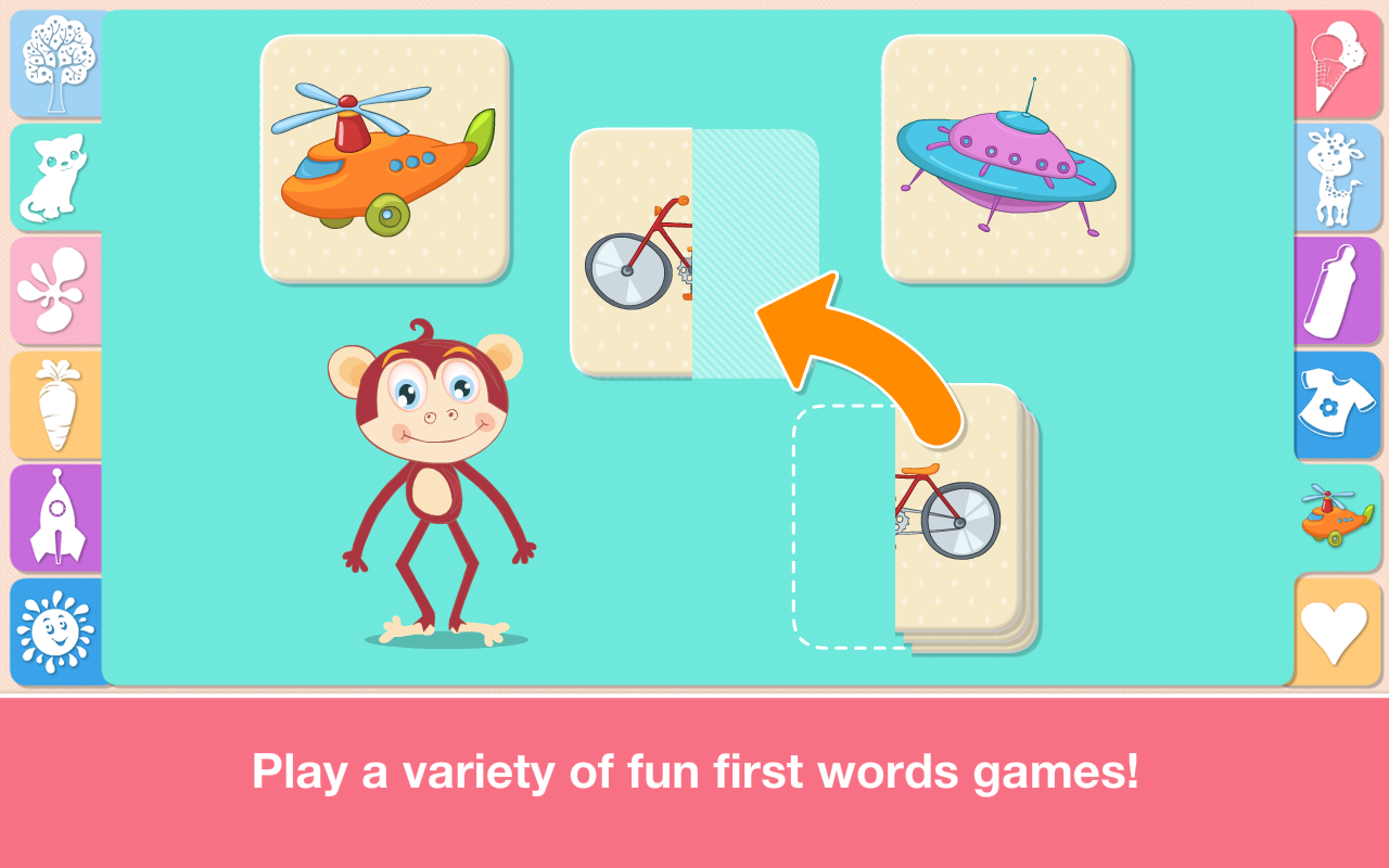 Amazon.com: Baby First Words: Matching and Sorting Puzzle Games for ...
