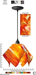product image for Jezebel Signature JRBL-FP16-ZIN Black Flame Pendant, Large, Zinnia