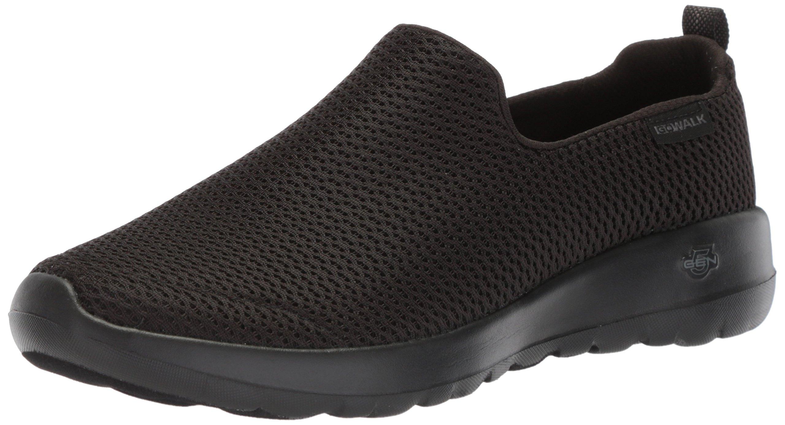 Skechers Performance Women's Go Walk Joy Walking Shoe,black,9.5 W US by Skechers (Image #1)