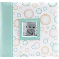 MBI by MCS Baby Scrapbook Album, 12 by 12-Inch, Green Bubbles