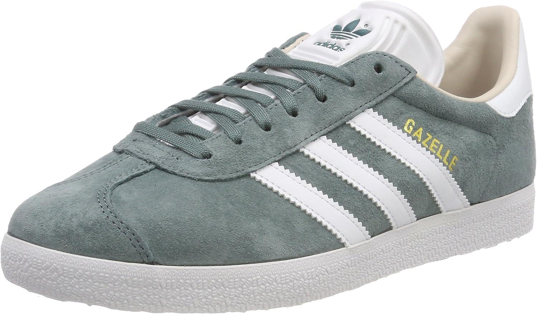 Adidas Women's Shoes Gazelle W Grey-Green White size 4.5: Amazon ...