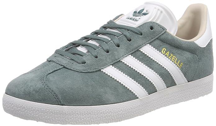 adidas Damen Gazelle Sneaker Grün (Raw Green) mit weißen Streifen