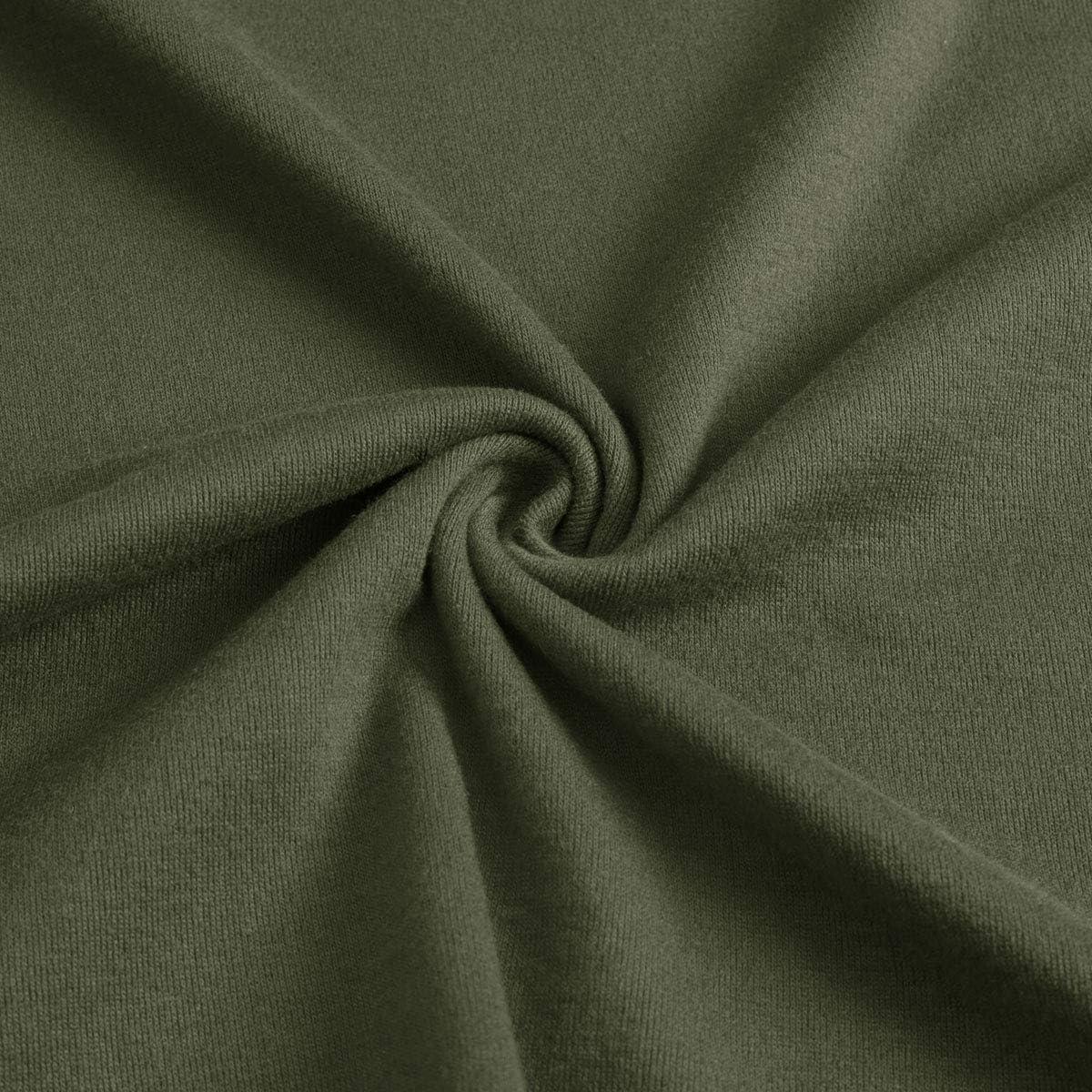 Yidarton Womens Casual Long Sleeve Sweatshirt Side Split Loose Round Neck Tunic Pullover Tops