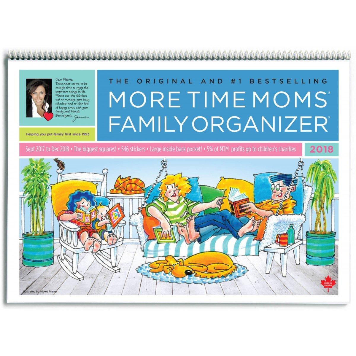 Amazon.com: More Time Moms - 2018 Family Organizer Wall Calendar ...