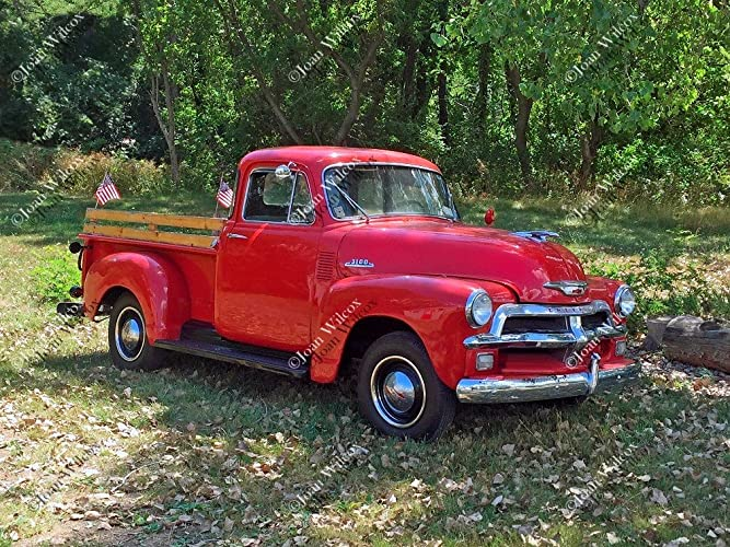 Old Chevy Truck >> Amazon Com Old Red 50s Chevy Truck 54 Chevrolet Vintage Antique
