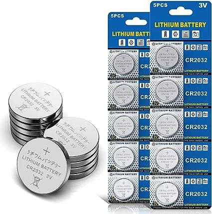 10 Stück Cr2032 3v Batterien Cr 2032 Knopfzelle Elektronik