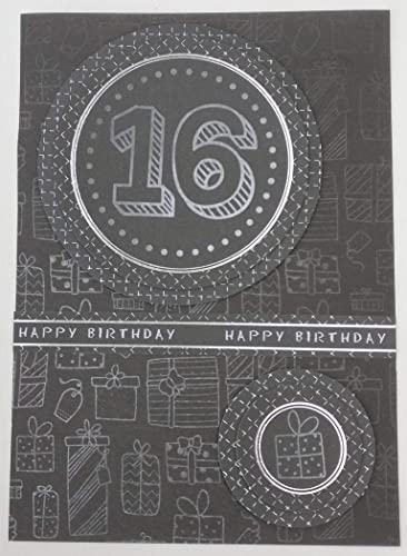 16th Birthday Card With Personalised Braille Message For The Blind Or Visually Impaired Amazoncouk Handmade