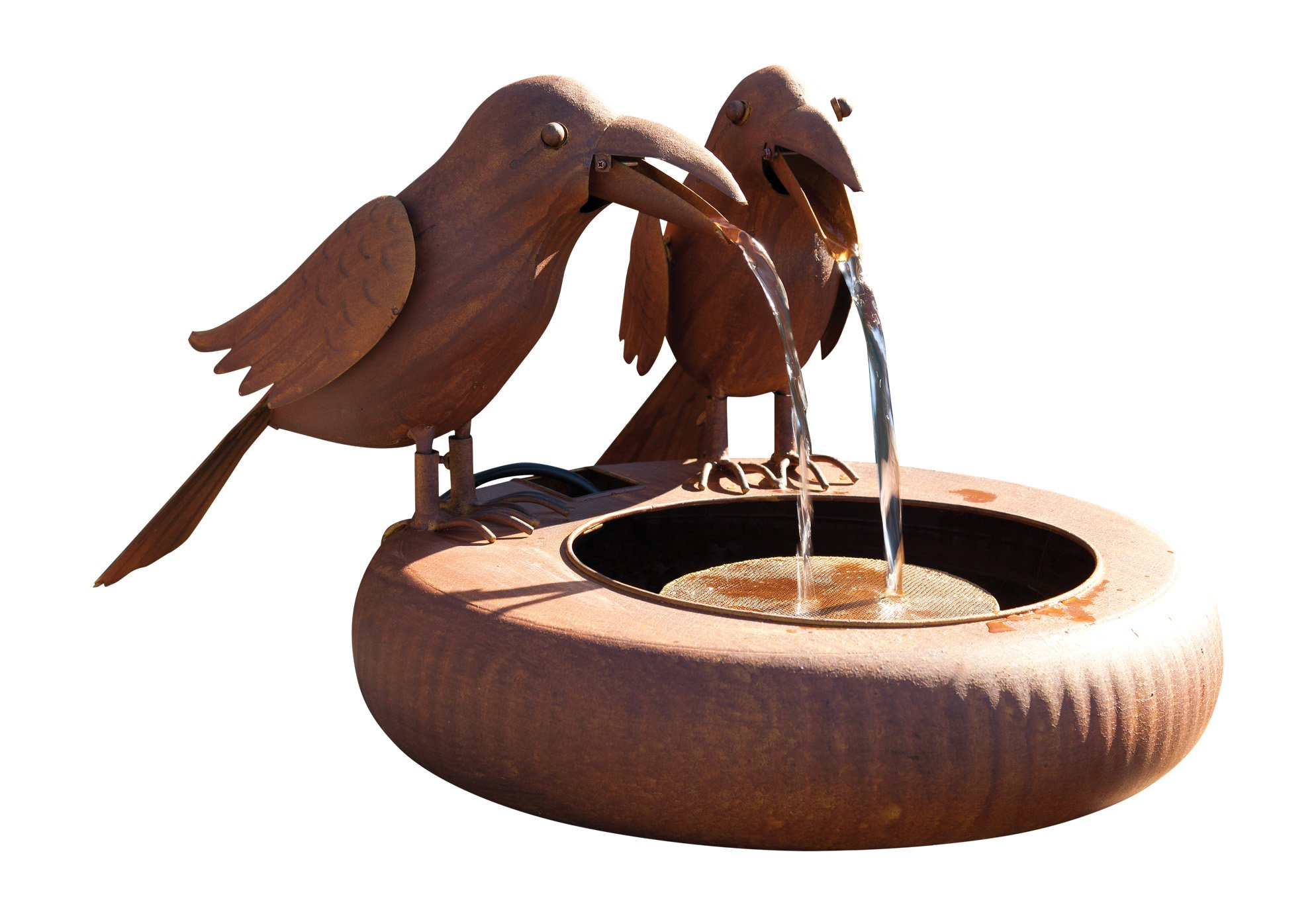 Park Hill Collections Old Crows Fountain - Spitter with Pump by Park Hill Collections
