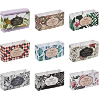 PH PandaHall 90pcs Soap Wrapper 9 Style Flower Wrap Paper Tape Vertical Soap Paper Tag f for Homemade Soap Bar Packaging