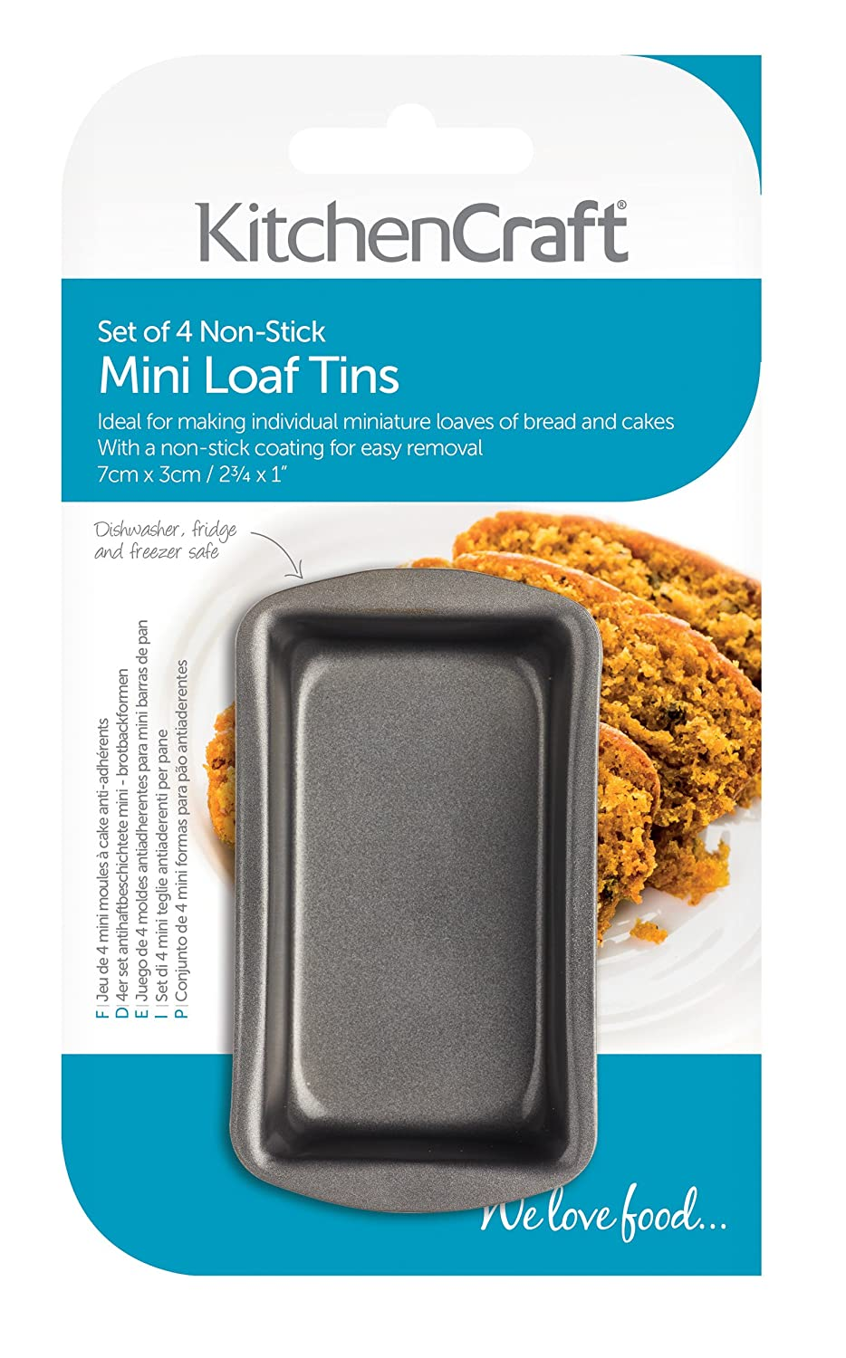 Amazon.com: Set of 4 Mini (Individual) Loaf Pans: Kitchen & Dining