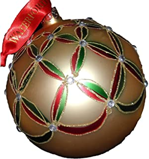 Amazon.com: Waterford Holiday Heirlooms Gold Ball Christmas ...