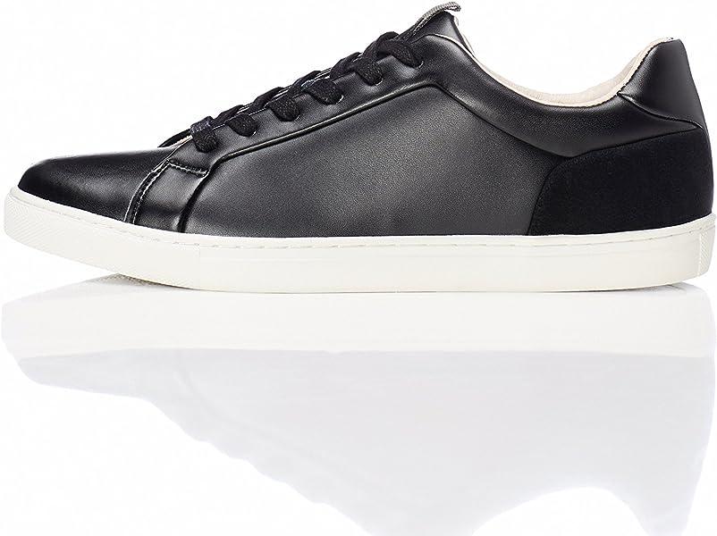 free shipping 2d3ab 069be FIND Sneaker Herren aus Leder, mit Retro-Design