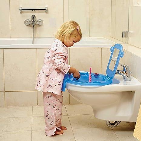 Rotho Babydesign Kinderwaschbecken Kiddy Wash 38,7 x 38,2 x 10 cm Wei/ß Zum Anbringen am Badewannenrand 20034 0314 01