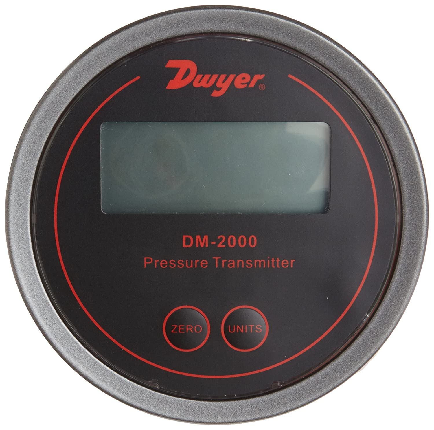 Black Background Dwyer Series DM-2000 Differential Pressure Transmitter with LCD 0.5-0-0.5WC 0.5-0-0.5WC Dwyer Instruments DM-2013-LCD