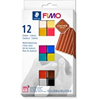 Staedtler- Pasta de modelar de endurecimiento al horno, Multicolor, 12 Halbblöcke (8013 C12-2) , color/modelo surtido