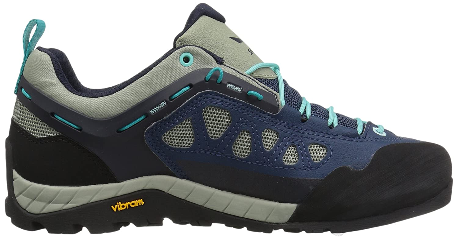 Salewa Firetail 3 Blau, Damen Hiking- & Approach-Schuh, Größe EU 35 - Farbe Dark Denim-Aruba Blue Damen Hiking- & Approach-Schuh, Dark Denim - Aruba Blue, Größe 35 - Blau