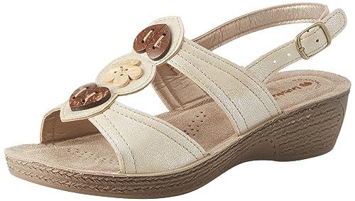 design di qualità ad82e 02ac8 INBLU Gloria, Sandali con Cinturino alla Caviglia Donna